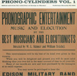 Phono-Cylinders, Vol. 1: Edited by and from the Collection of George A. Blacker