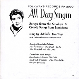 All Day Singin' - Louisiana and Smoky Mountain Ballads