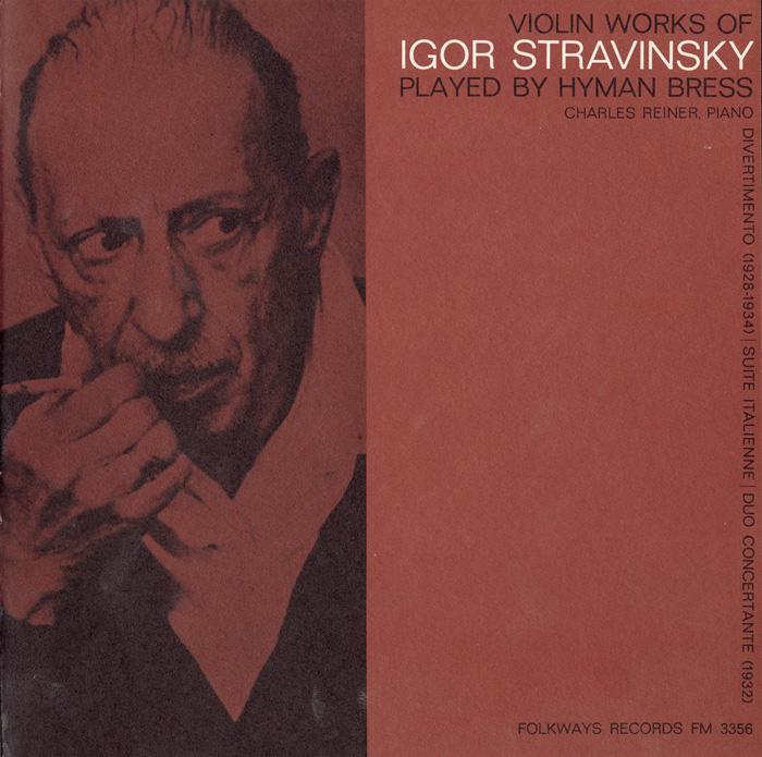 Violin Works of Igor Stravinsky