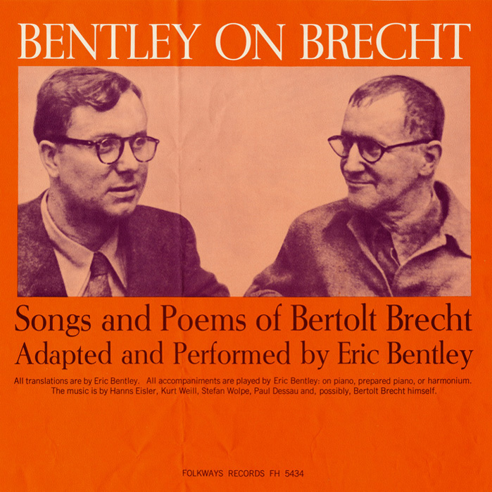 Bentley on Brecht: Songs and Poems of Bertolt Brecht