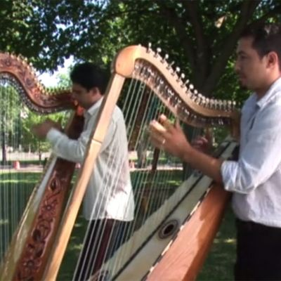 Marcleo Rojas and Miguel Prado Perform a Harp Duet at 2009 Smithsonian Folklife Festival